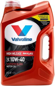 Valvoline High Mileage with MaxLife Technology SAE 10W-40 Synthetic Blend Motor Oil